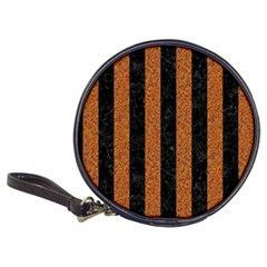 Stripes1 Black Marble & Rusted Metal Classic 20 Cd Wallets by trendistuff