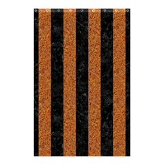Stripes1 Black Marble & Rusted Metal Shower Curtain 48  X 72  (small)  by trendistuff