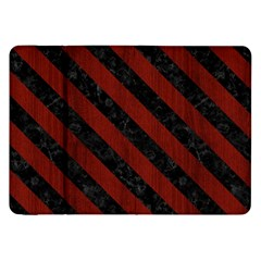 Stripes3 Black Marble & Reddish Brown Wood Samsung Galaxy Tab 8 9  P7300 Flip Case by trendistuff