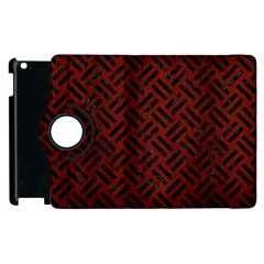 Woven2 Black Marble & Reddish Brown Wood Apple Ipad 3/4 Flip 360 Case by trendistuff