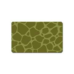 Autumn Animal Print 1 Magnet (name Card) by tarastyle