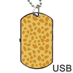 Autumn Animal Print 2 Dog Tag Usb Flash (one Side) by tarastyle