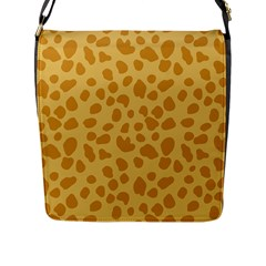 Autumn Animal Print 2 Flap Messenger Bag (l)  by tarastyle