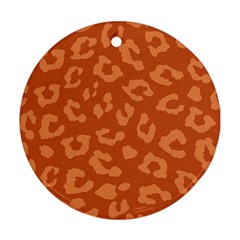 Autumn Animal Print 3 Round Ornament (two Sides) by tarastyle