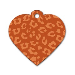 Autumn Animal Print 3 Dog Tag Heart (two Sides) by tarastyle