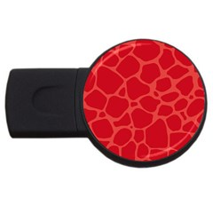Autumn Animal Print 6 Usb Flash Drive Round (2 Gb) by tarastyle