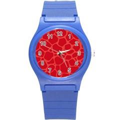Autumn Animal Print 6 Round Plastic Sport Watch (s) by tarastyle