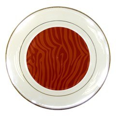 Autumn Animal Print 8 Porcelain Plates by tarastyle
