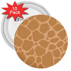 Autumn Animal Print 10 3  Buttons (10 Pack)  by tarastyle