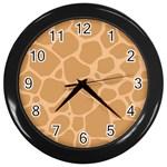 Autumn Animal Print 10 Wall Clocks (Black)