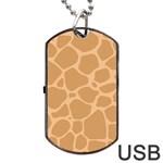 Autumn Animal Print 10 Dog Tag USB Flash (Two Sides)