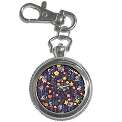 Cute Doodle Flowers 2 Key Chain Watches by tarastyle