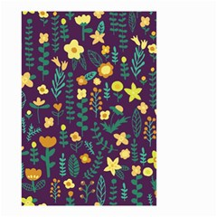 Cute Doodle Flowers 2 Small Garden Flag (two Sides) by tarastyle