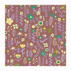 Cute Doodle Flowers 3 Medium Glasses Cloth (2 Side) by tarastyle