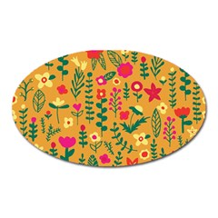 Cute Doodle Flowers 4 Oval Magnet by tarastyle