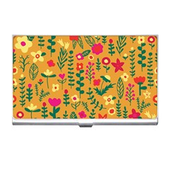 Cute Doodle Flowers 4 Business Card Holders by tarastyle