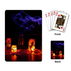Awaiting Halloween Night Playing Card by gothicandhalloweenstore
