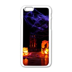 Awaiting Halloween Night Apple Iphone 6/6s White Enamel Case by gothicandhalloweenstore