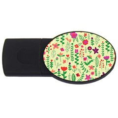 Cute Doodle Flowers 5 Usb Flash Drive Oval (4 Gb) by tarastyle