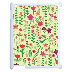 Cute Doodle Flowers 5 Apple Ipad 2 Case (white) by tarastyle