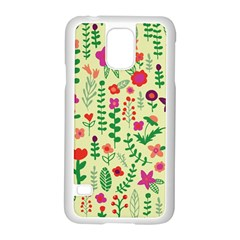 Cute Doodle Flowers 5 Samsung Galaxy S5 Case (white)