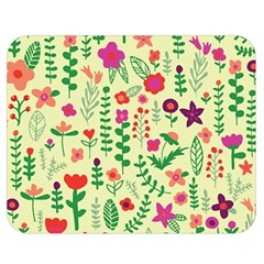 Cute Doodle Flowers 5 Double Sided Flano Blanket (medium)  by tarastyle