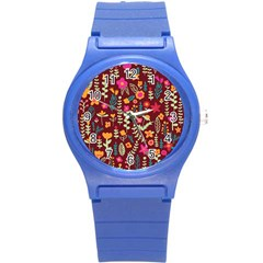 Cute Doodle Flowers 6 Round Plastic Sport Watch (s) by tarastyle
