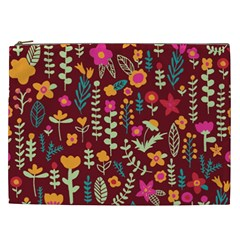 Cute Doodle Flowers 6 Cosmetic Bag (xxl)  by tarastyle
