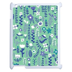 Cute Doodle Flowers 9 Apple Ipad 2 Case (white) by tarastyle