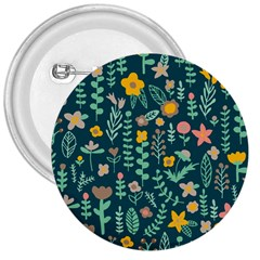 Cute Doodle Flowers 10 3  Buttons by tarastyle