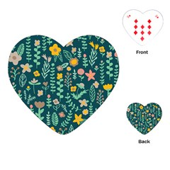 Cute Doodle Flowers 10 Playing Cards (heart)  by tarastyle