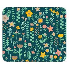 Cute Doodle Flowers 10 Double Sided Flano Blanket (small)  by tarastyle