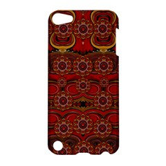 Pumkins  In  Gold And Candles Smiling Apple Ipod Touch 5 Hardshell Case by pepitasart