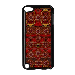 Pumkins  In  Gold And Candles Smiling Apple Ipod Touch 5 Case (black) by pepitasart