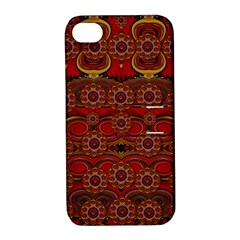 Pumkins  In  Gold And Candles Smiling Apple Iphone 4/4s Hardshell Case With Stand by pepitasart