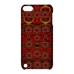 Pumkins  In  Gold And Candles Smiling Apple Ipod Touch 5 Hardshell Case With Stand by pepitasart