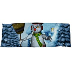 Funny Grimly Snowman In A Winter Landscape Body Pillow Case (dakimakura) by FantasyWorld7