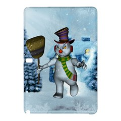 Funny Grimly Snowman In A Winter Landscape Samsung Galaxy Tab Pro 10 1 Hardshell Case by FantasyWorld7