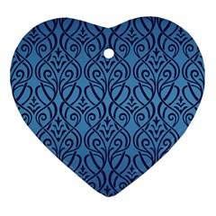 Art Nouveau Teal Ornament (heart) by 8fugoso