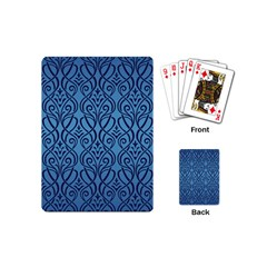 Art Nouveau Teal Playing Cards (mini)  by 8fugoso