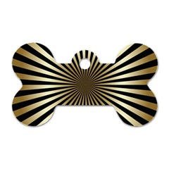 Art Deco Goldblack Dog Tag Bone (two Sides) by 8fugoso