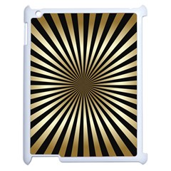 Art Deco Goldblack Apple Ipad 2 Case (white) by 8fugoso