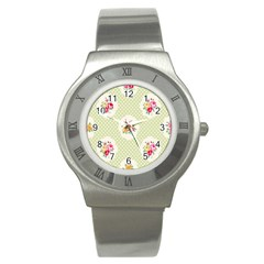 Green Shabby Chic Stainless Steel Watch by 8fugoso