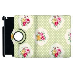Green Shabby Chic Apple Ipad 3/4 Flip 360 Case by 8fugoso