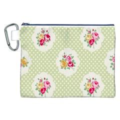 Green Shabby Chic Canvas Cosmetic Bag (xxl) by 8fugoso