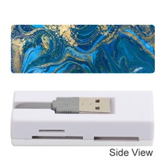Ocean Blue Gold Marble Memory Card Reader (stick)  by 8fugoso