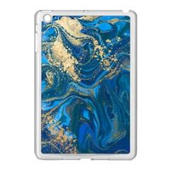Ocean Blue Gold Marble Apple Ipad Mini Case (white) by 8fugoso