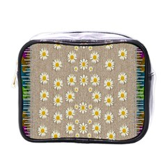 Star Fall Of Fantasy Flowers On Pearl Lace Mini Toiletries Bags by pepitasart