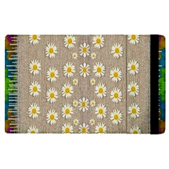 Star Fall Of Fantasy Flowers On Pearl Lace Apple Ipad Pro 12 9   Flip Case by pepitasart