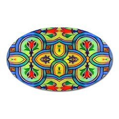 L ooera In Lyrical Abstraction Oval Magnet by DeneWestUK